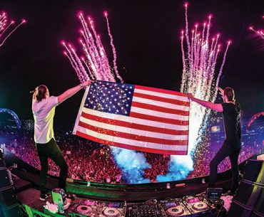 Old Glory: DJs flying the flag at EDC. ©Freedom Film/Insomniac