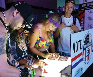 EDC Scene: ABDJ voters get busy. Amanda Rose