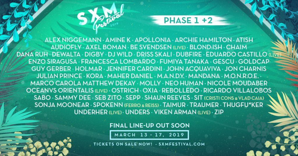 SXM Festival Announces Phase 2 Lineup