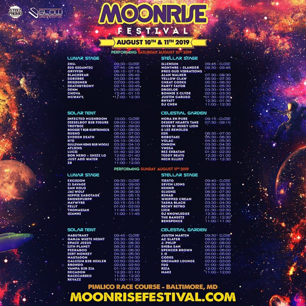Moonrise Festival 2020.Moonrise Fest America S Best Dj Tour To Land In Baltimore