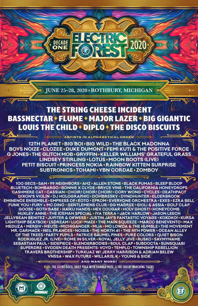 Electric Forest Lineup 2020