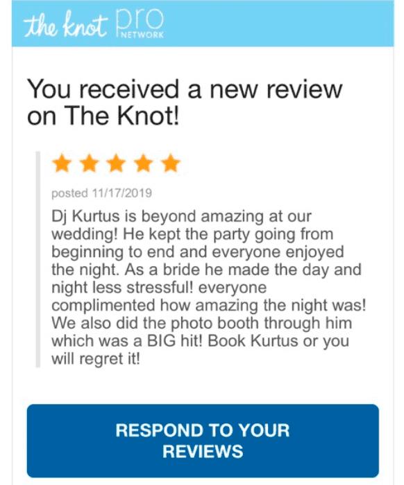 wedding DJ's knot review