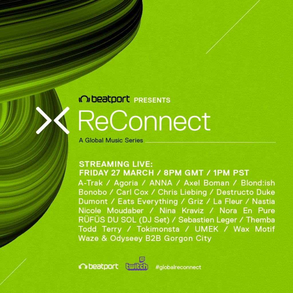 "Beatport Announces 24-Hour Twitch Live Stream Marathon, ""ReConnect"""