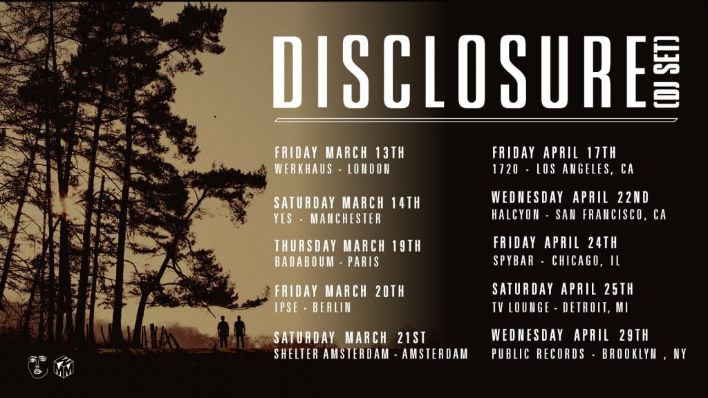 disclosure 2020 tour dates