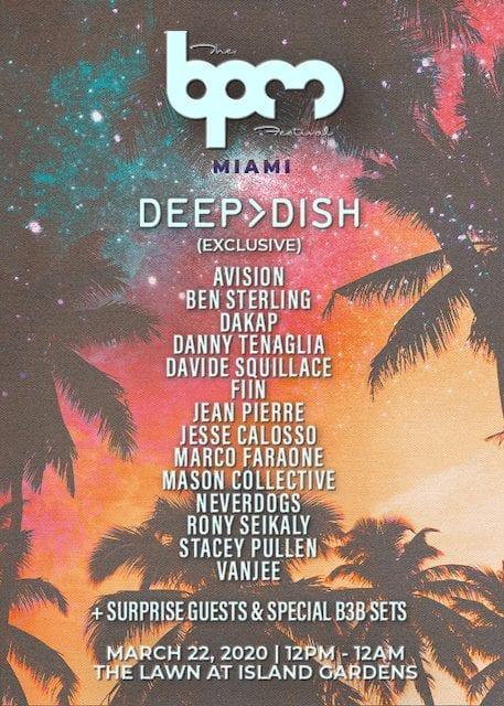 BPM Festival Miami Lineup 2020