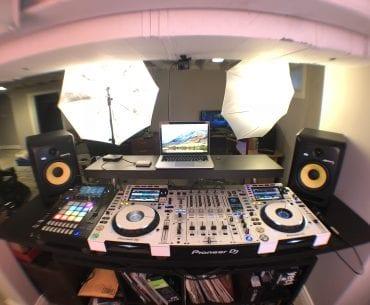 DJ live stream set up