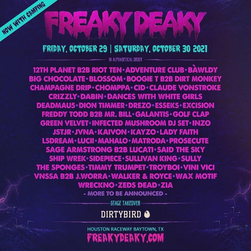 freaky deaky 2021 lineup