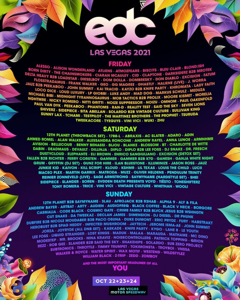edc vegas 2021 lineup