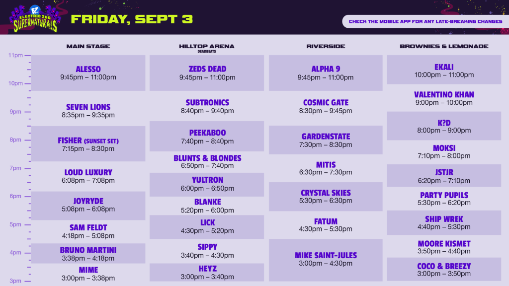 electric zoo 2021 friday set times