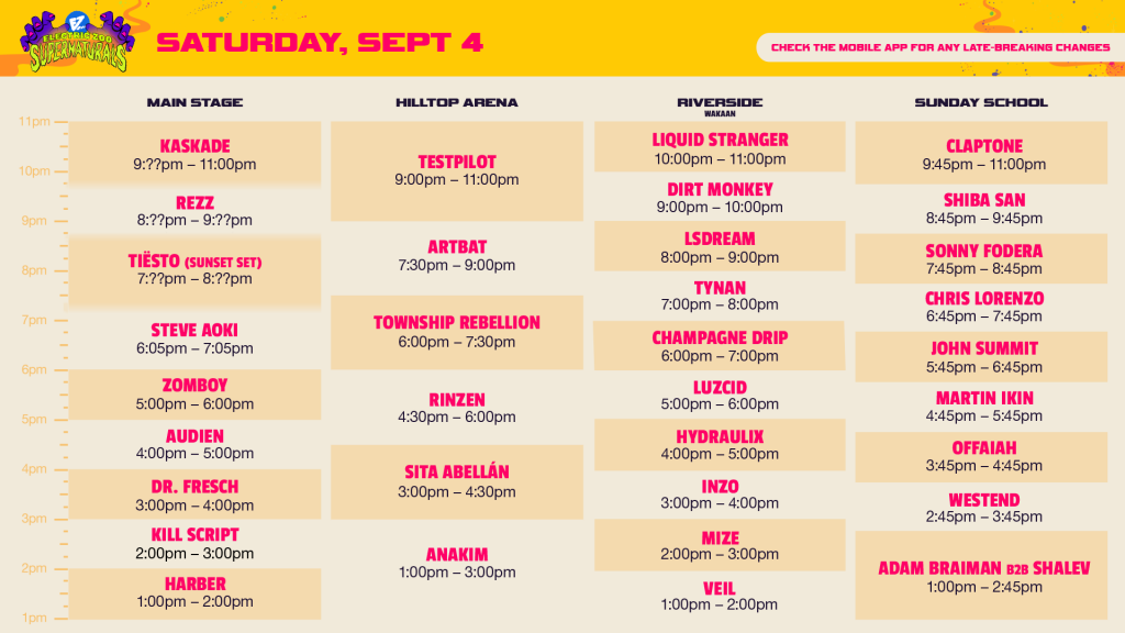 electric zoo 2021 saturday set times