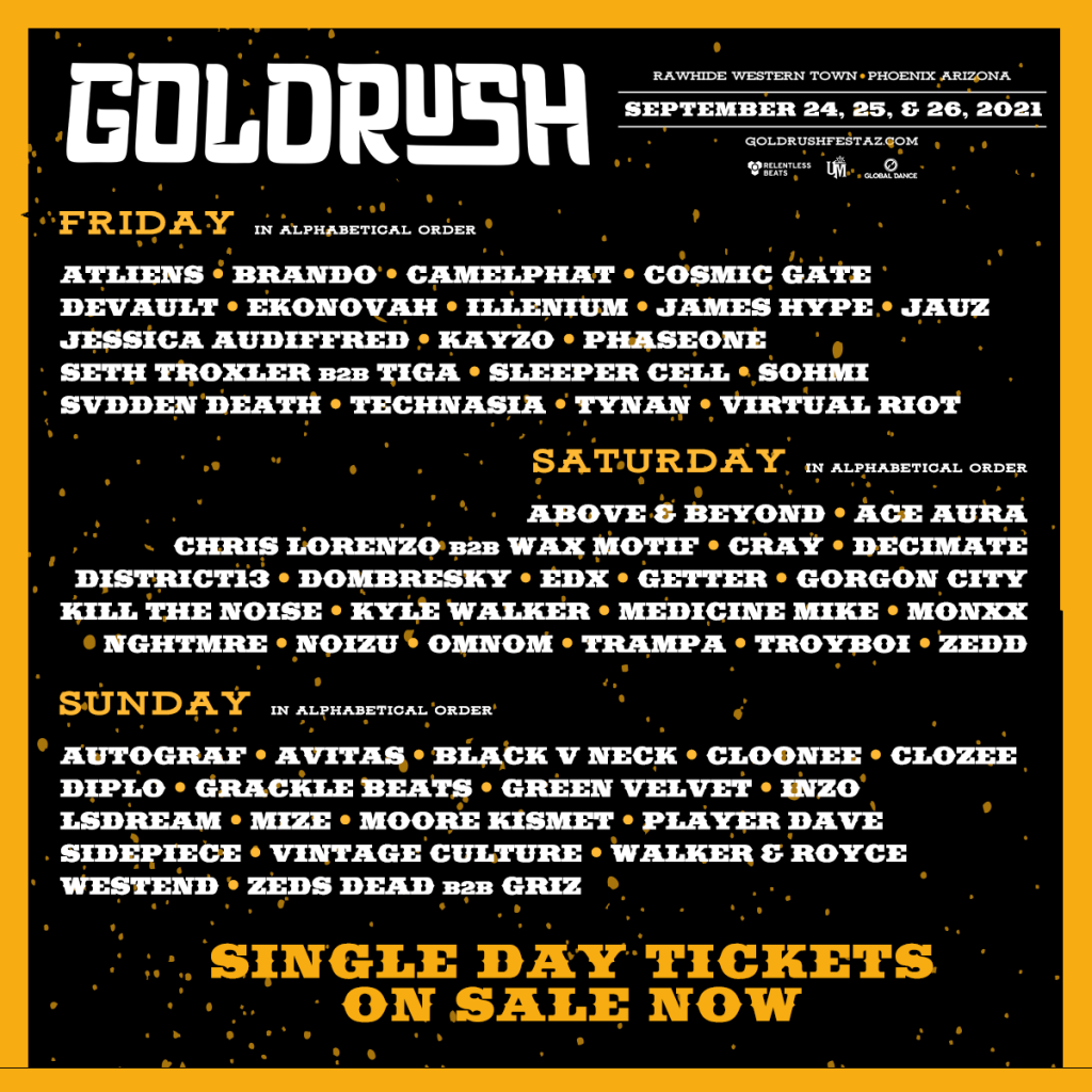 goldrush music lineup 2021